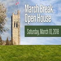 March Break Open House March 10 2018