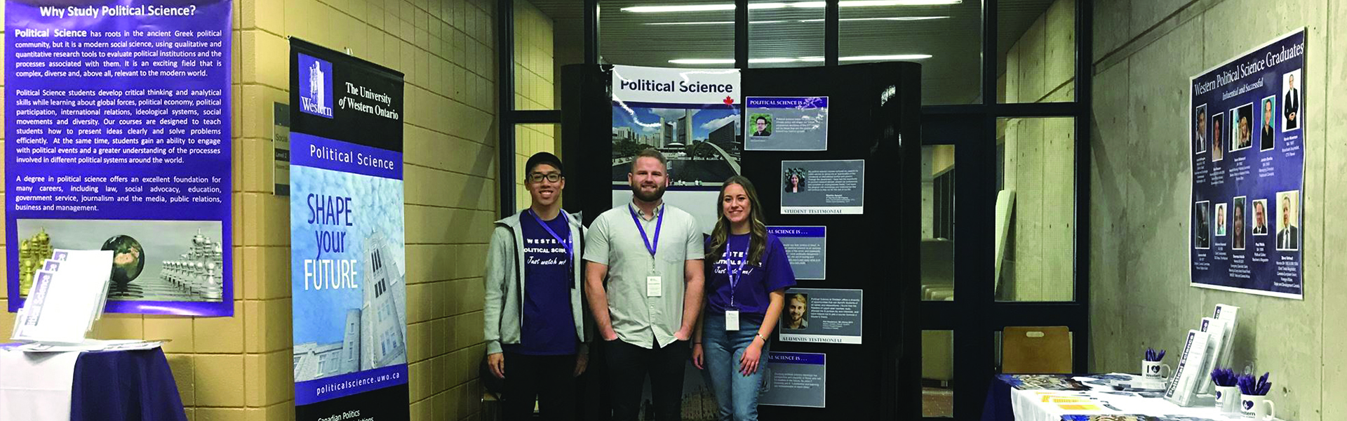 Students at Western Open House for Political Science