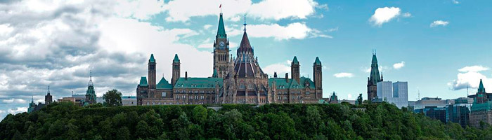 Parliment Hill, Ottawa - Image from Wikimedia Commons
